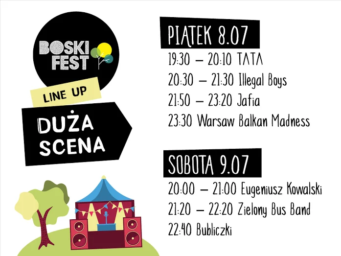 Main stage Line-up